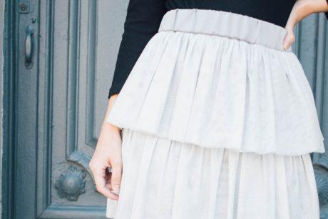 Curso de costura paso a paso falda de tul con volante