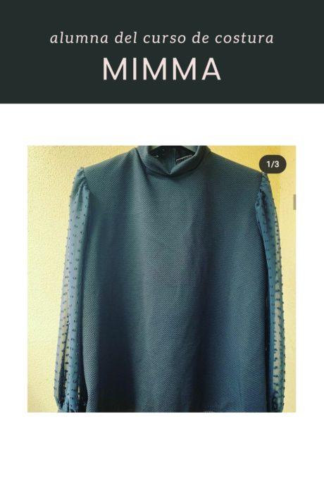 Alumna curso de costura camisa vintage